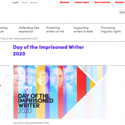 PEN International: Joint Letter for the Day of the Imprisoned Writer 2020