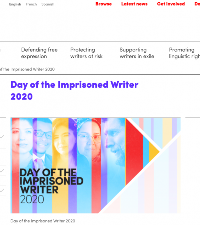 PEN International: Joint Letter for the Day of the Imprisoned Writer 2020