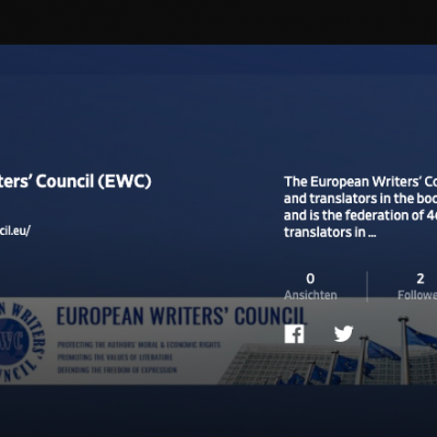 Authors' Rights in Motion: EWC is launching its own Video Channel