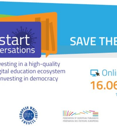 RE:START CONVERSATIONS Part II – SAVE THE DATE Beyond the crisis: Recovery, resilience and sustainability of the book sector – 16 June 10.00 CEST – ONLINE