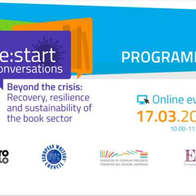 RE:START CONVERSATIONS. Beyond the crisis: Recovery, resilience and sustainability of the book sector – 17 March 10.00 CET – ONLINE