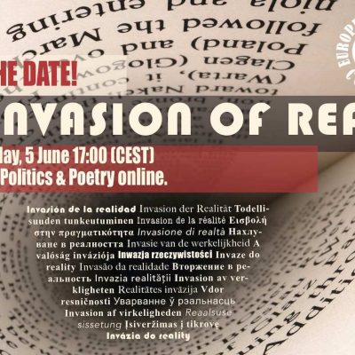 EWC presents: Invasion of Reality – Prose, Politics & Poetry